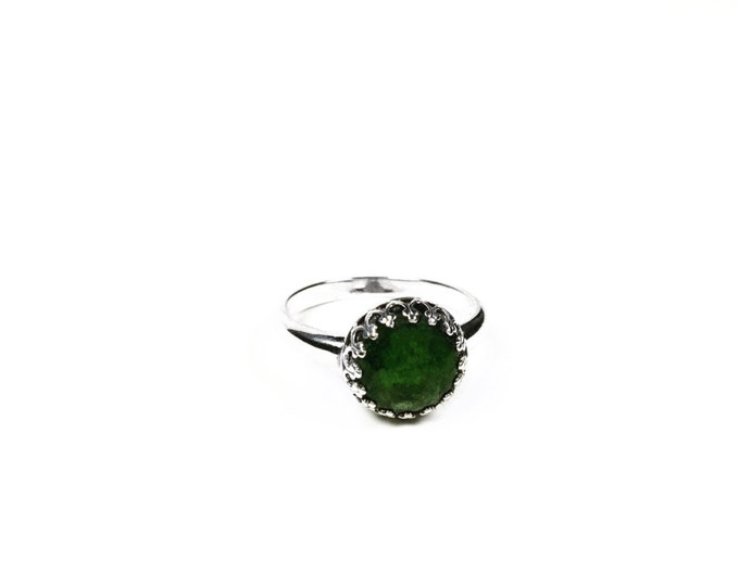 Sterling Silver Gemstone Ring - Diopside Gemstone Ring