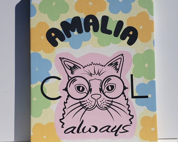PERSONALIZED Baby's Nursery or Kid's Room Wall Art, custom made silkscreen on canvas and over an artist's board