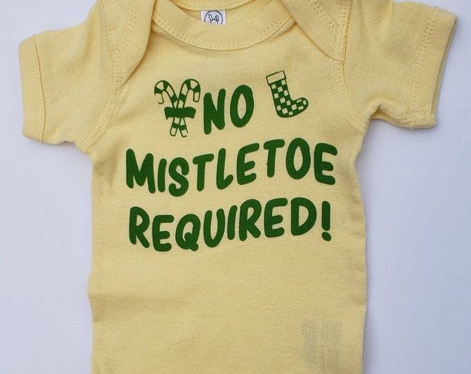 Baby bodysuit is a Rabbit Skins brand infant bodysuit in size Newborn only for Baby's FIRST Christmas