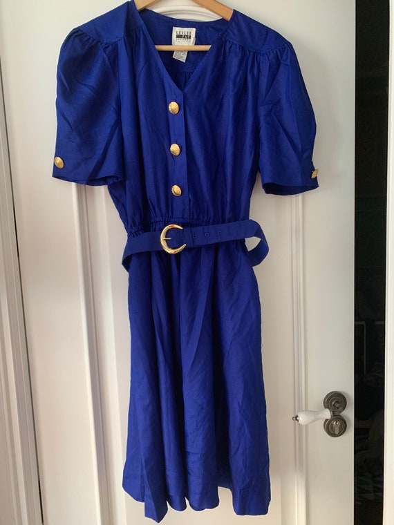 Vintage dress 50s royal blue