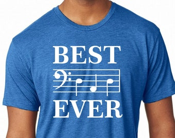 Premium shirt Best Dad Ever Musical Scale Music Note Father's Day Dad tshirt 6010 Next Level