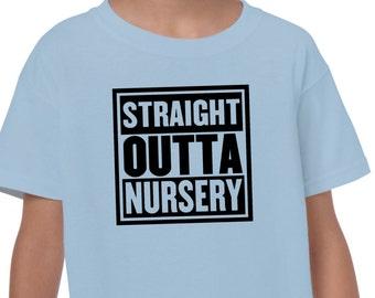 Straight outta nursery LDS Mormon Latter Day Saint funny humor tshirt