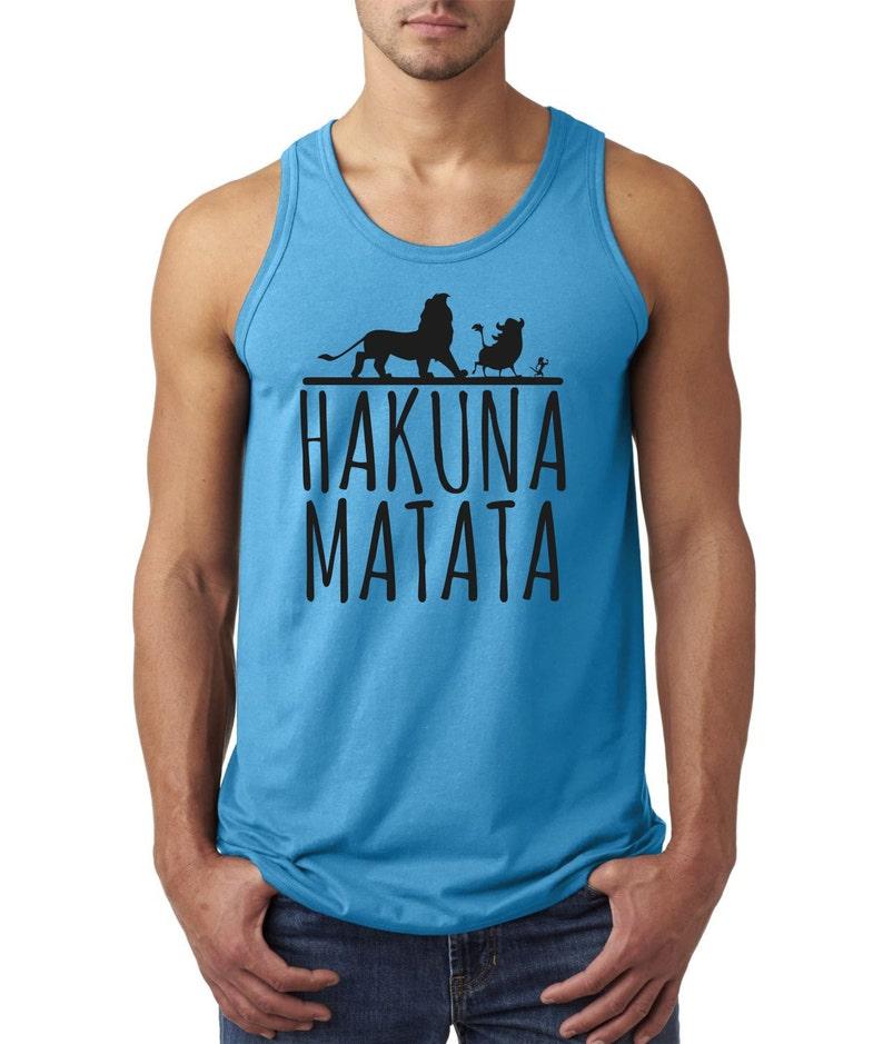 6fc122738b890 Disney Lion King inspired Hakuna Matata No Worries tank top