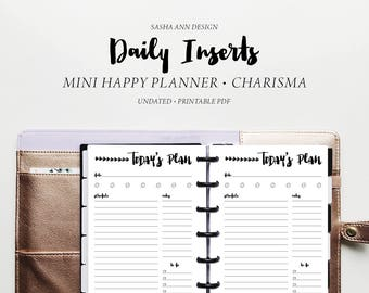Mini Happy Planner - Daily Printable Insert [Charisma]
