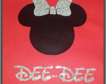 Girls Minnie Mouse Personalized Shirt