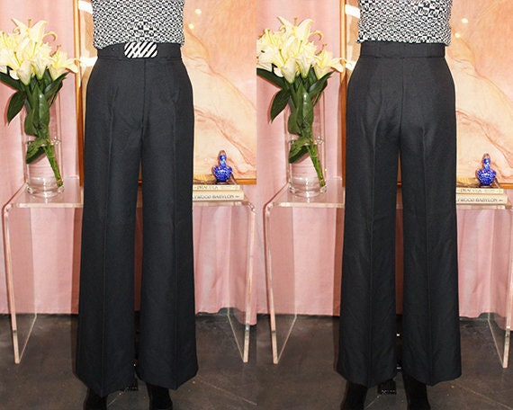1970's Deadstock High-Waisted Tailored Trousers (S