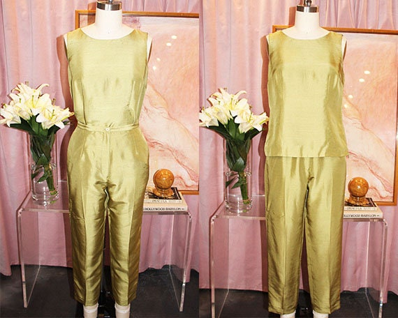 Pistachio Silk Two-Piece Set (S)