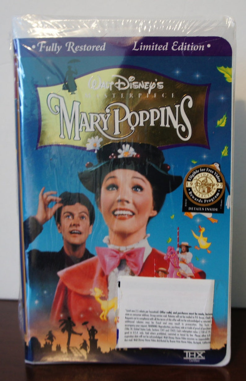 Vhs 1997 Mary Poppins Movie Brand New Limited Edition Fully Restored