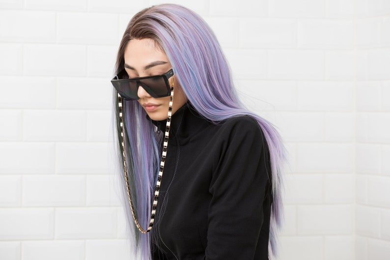 B/W Snake Eyeglass Chain