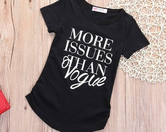 More Issues than Vogue//Baby Shirt//Funny Baby Bodysuit//Baby Gift//Funny Baby Shirt//Kids Clothes//Baby Shower Gift//Trendy Toddler//Graphic Tshirt//Baby Clothes