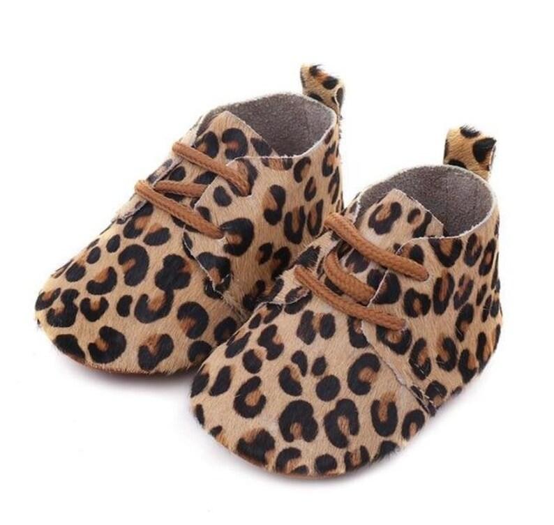 Animal Print Baby Toddler Moccasins