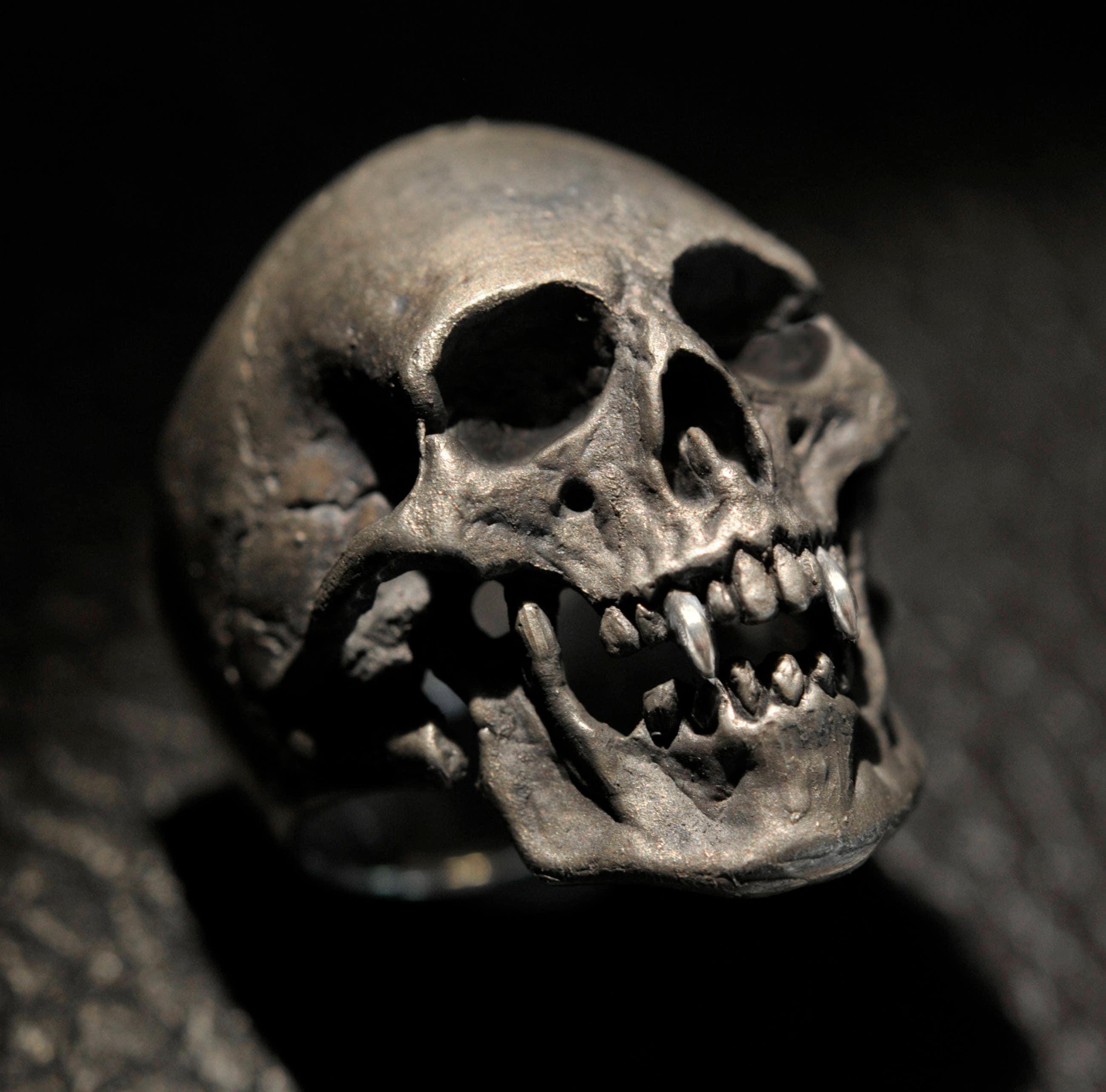 Vampire Skull Ring,Large Size