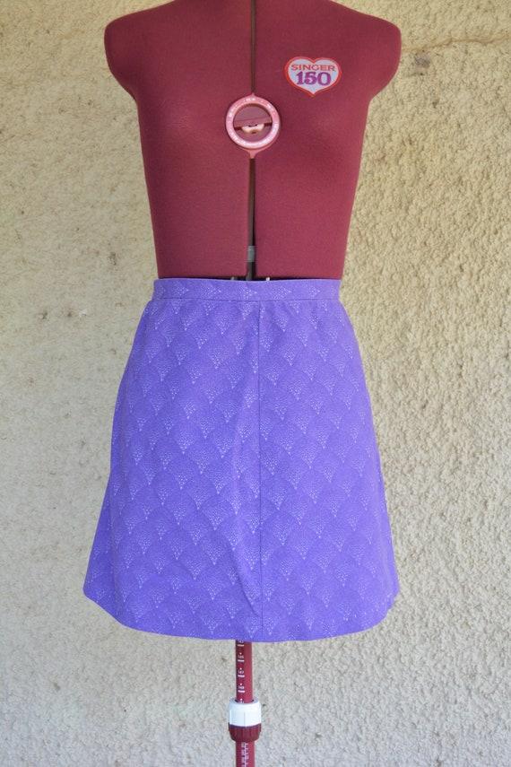 1960s mod violet mini skirt