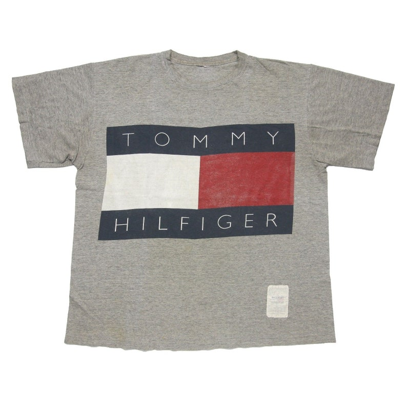 3262a8e39c611 Vintage 90s Tommy Hilfiger Big Flag Box Logo Spell Out Sailing
