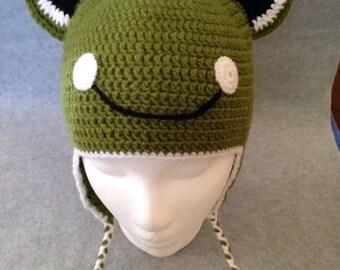 Crochet frog hat, Girls hats, Boys hats, Cute animal hats, Autumn hats, Hats with ears, Childrens hats