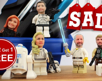 Become your own LEGO minifigure - Buy 2 get 1 FREE sale!