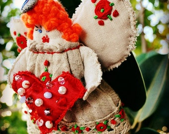 Gift with love gift with heart decoration christmas babies gift with heart decoration christmas babies decor christmas gift angel with heart home decorations art doll shabby home easter gifts negle Image collections