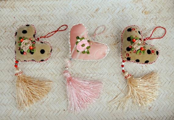 Adorno Navidad Tela Regalo Navideno Decoracion Navidad Etsy - Adornos-de-navidad-con-tela