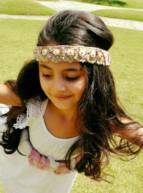 fd6c45774f5 Fabric headbands flowers crowns girls headbands bridal