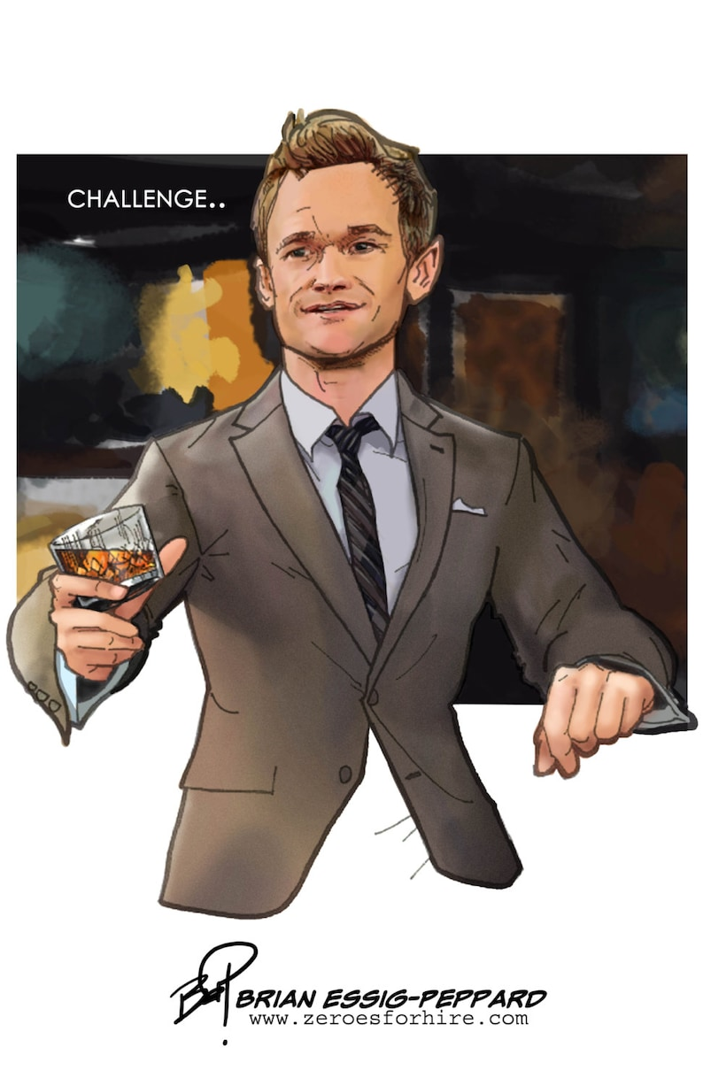 Challenge Accepted Barney Stinson How I Met Your Etsy