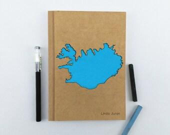 ICELAND Map Notebook, Travel Journal, Custom Journal, Personalized Notebook Journal, Custom Notebook, Custom Diary