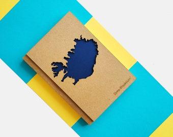 Iceland Travel Journal, Iceland Gift, Iceland Art, Reykjavik, Blue Lagoon, Iceland Map