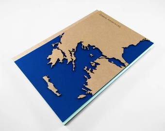TRAVEL Journal, GREECE Map, Personalized Travel Notebook, Personalized Journal, Custom Notebook, Custom Diary, Initial Notebook