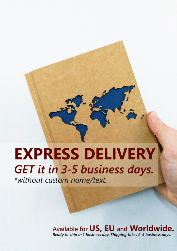 World Map Notebook EXPRESS DELIVERY Last Minute Gift