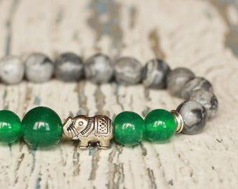 diffuser bracelets elephant mala beaded tibetan protection jewelry Elephant mom Bracelet her healing energy graduation gift idea jasper gems