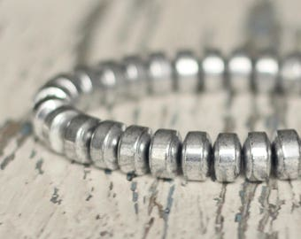 mens hematite bracelets grounding gem bracelet stack father gift boyfriend men accessories bracelet grey bracelet Hipster good luck jewelry
