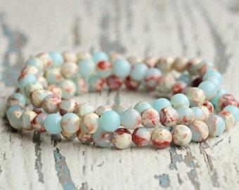woman bracelets beaded sisters gift idea for wife her gem bracelet turquoise boho bracelet stacking women jewelry birthday present beads