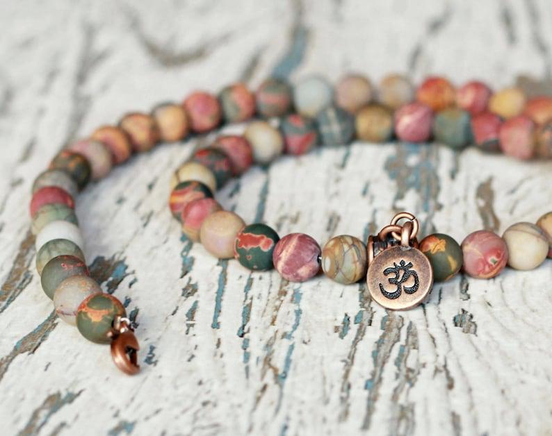 om necklace ohm charm charm necklaces mala beads women gift image 0