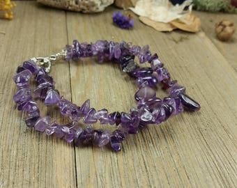 Vintage Purple Gemstone Bracelet
