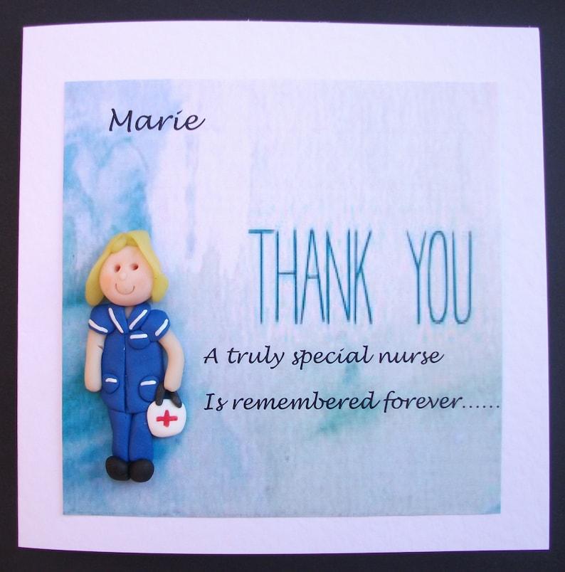 thank you card midwife  nurse doctor mentor handmade  etsy