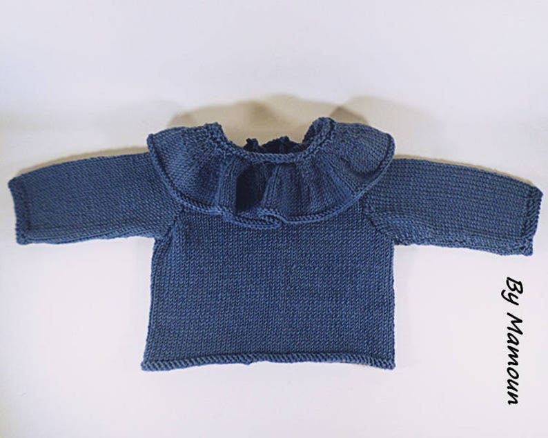 fb59038d7 Baby pierrot collar pullover sweater size 3-6 months