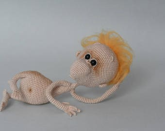 Amigurumi crohet mini monkey