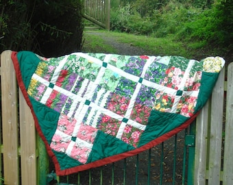 Flower Garden Quilt, SPECIAL OFFER PRICE Hand Quilted