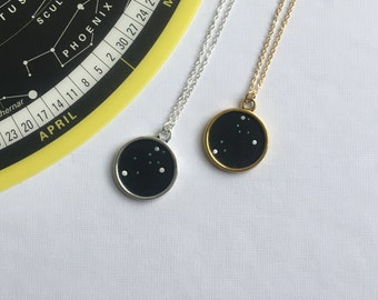 LEO NECKLACE. gift for her / leo constellation / zodiac sign necklace / custom necklace / leo pendant / leo constellation necklace / gift