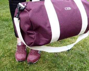 Gym bag Monogrammed-The Charlie. Fathers Day Gift.