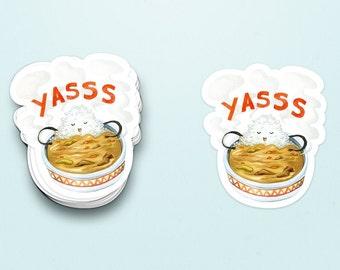 Curry Yasss Sticker, Japanese curry sticker, Japanese comfort food, Onsen, Bath, Relax, Japanese snack sticker, Rice bowl, Food cartoon