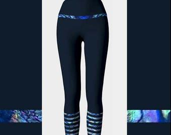 Abalone Stripe Leggings, Abalone Shell Leggings, High Waisted Leggings, Printed Leggings, Yoga Leggings, Boho Leggings, Womens Leggings