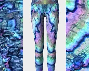 Eco friendly high waist yoga leggings bright leggings  aa148ec1d3358