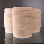 cotton cord SET OF 3 spool of 100m / 109yd   5mm  natural colour braided cotton rope strong sturdy cord Macrame cord craft cord braided rope