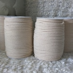 Diy Macrame rope Set of 4 Cotton braided cord 5mm spool of 100m / 109yd bulk supply cotton rope strong sturdy cord craft cord braided rope