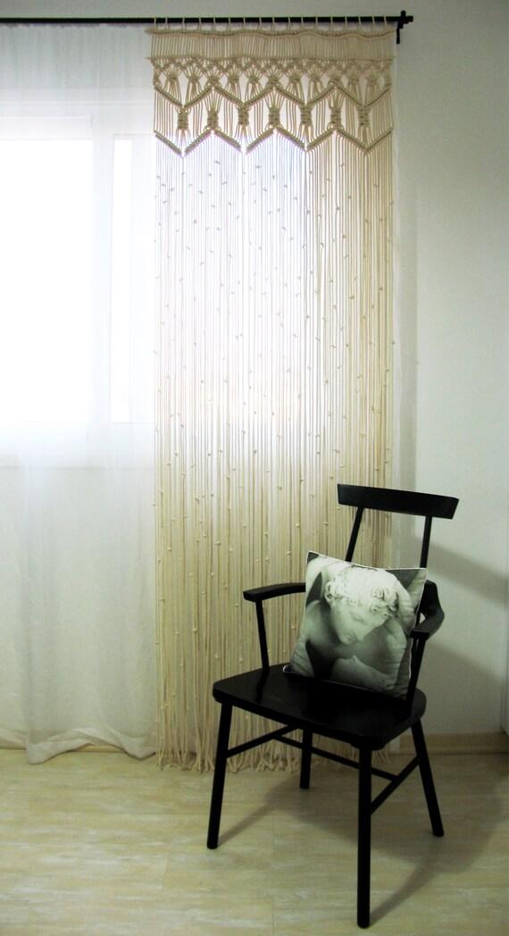 Macrame grote gordijn woonkamer slaapkamer aangepaste lace   Etsy