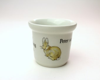 Vintage Wedgwood Peter Rabbit Single Egg Cup w/ Original Box - Beatrix Potter China Eggcup Collectible Frederick Warner - Made in England