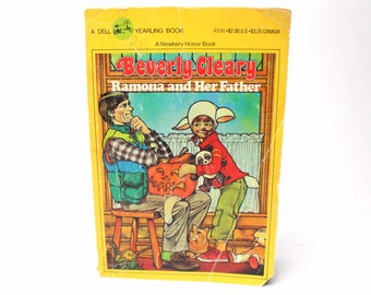 Vintage 1982 Ramona and Her Father By Beverly Cleary - Paperback - Illustrated by Alan Tiereen - Dell Yearling Book - Fathers & Daughter