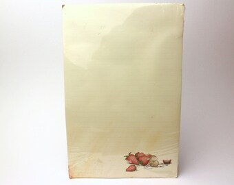 """Vintage 1991 House Mouse Designs Notepad """"Sleeping With Strawberries"""" by Ellen Jareckie - Memo Paper Pad - Created in Vermont, 1986"""