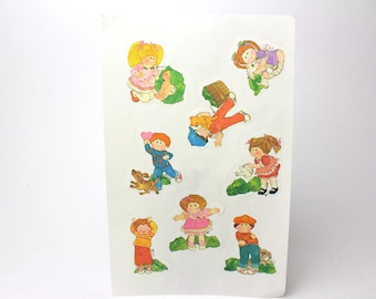 Vintage Cabbage Patch Kids Gummed Sticker Sheet 1984 - Current Lick & Stick Stickers Seals 80s Doll Collectibles -  Made in the USA