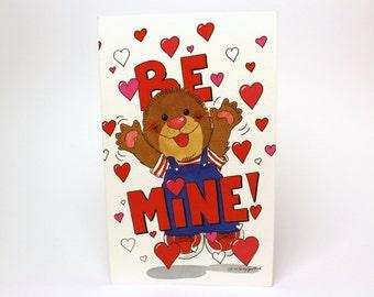 "Vintage 1992 Suzy's Zoo Valentine's Greeting Card ""Be mine! Fovever!"" - Ollie Marmot - by Suzy Spafford - Printed in U.S.A."